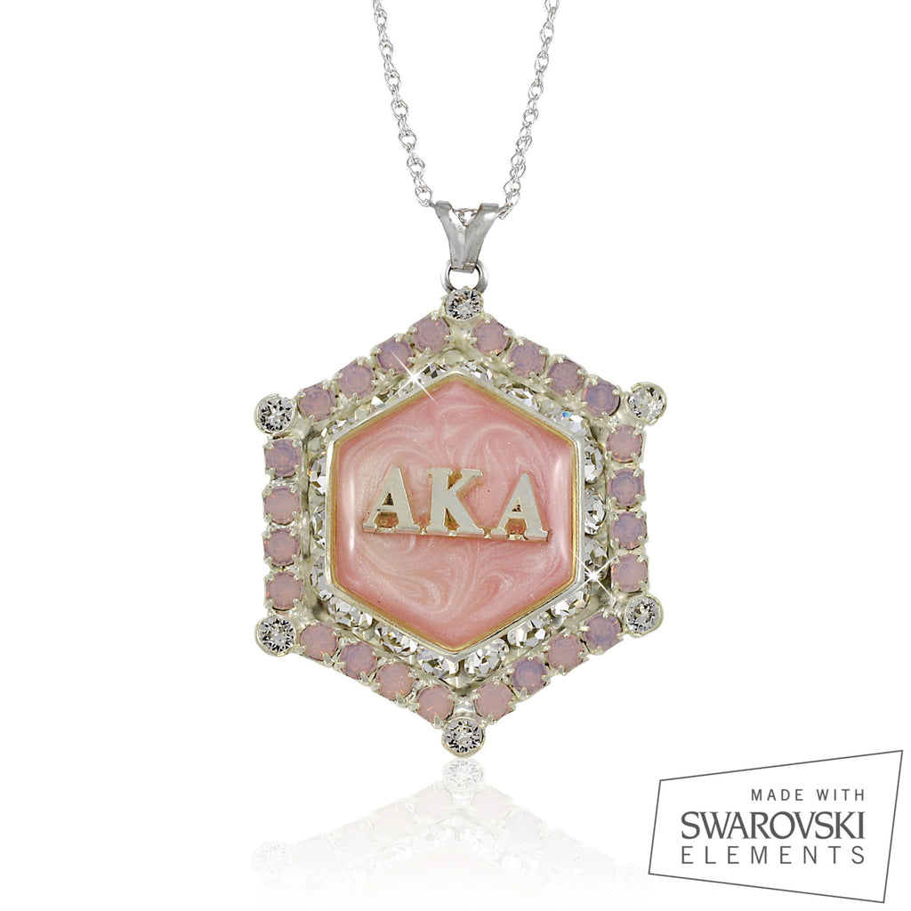 "AKA Swarovski® ""Decadence"" Silver Marbella Limited Edition Necklace"