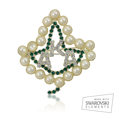 AKA Swarovski® Ivy and Pearls Pin