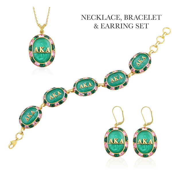 "AKA Swarovski® ""Glittering Emeralds"" Gift Set in Gold"