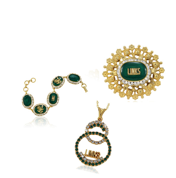 "Links Swarovski® Emerald and Crystal ""Prestigious"" Set"
