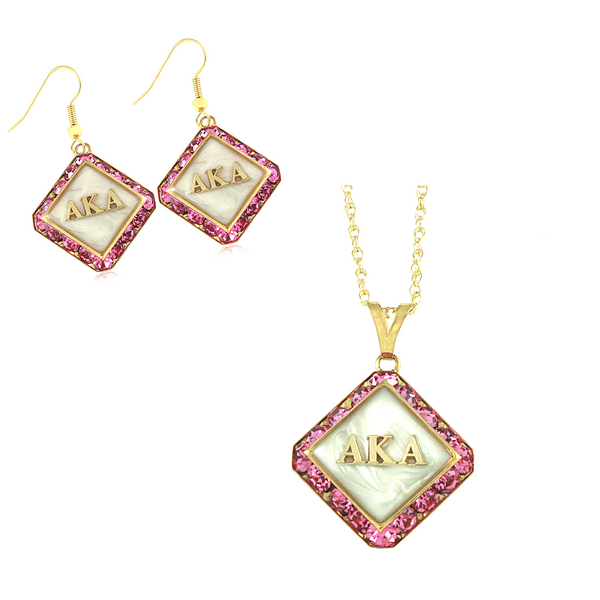 "Alpha Kappa Alpha Swarovski® ""Trendsetter"" Set in Gold *Limited Edition*"