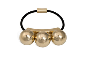 Jorge Luis New York 3 Bauble Gold Hair Band Hair Accessory