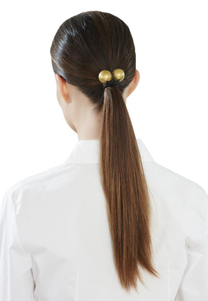 2 Bauble Hairband Polished Gold