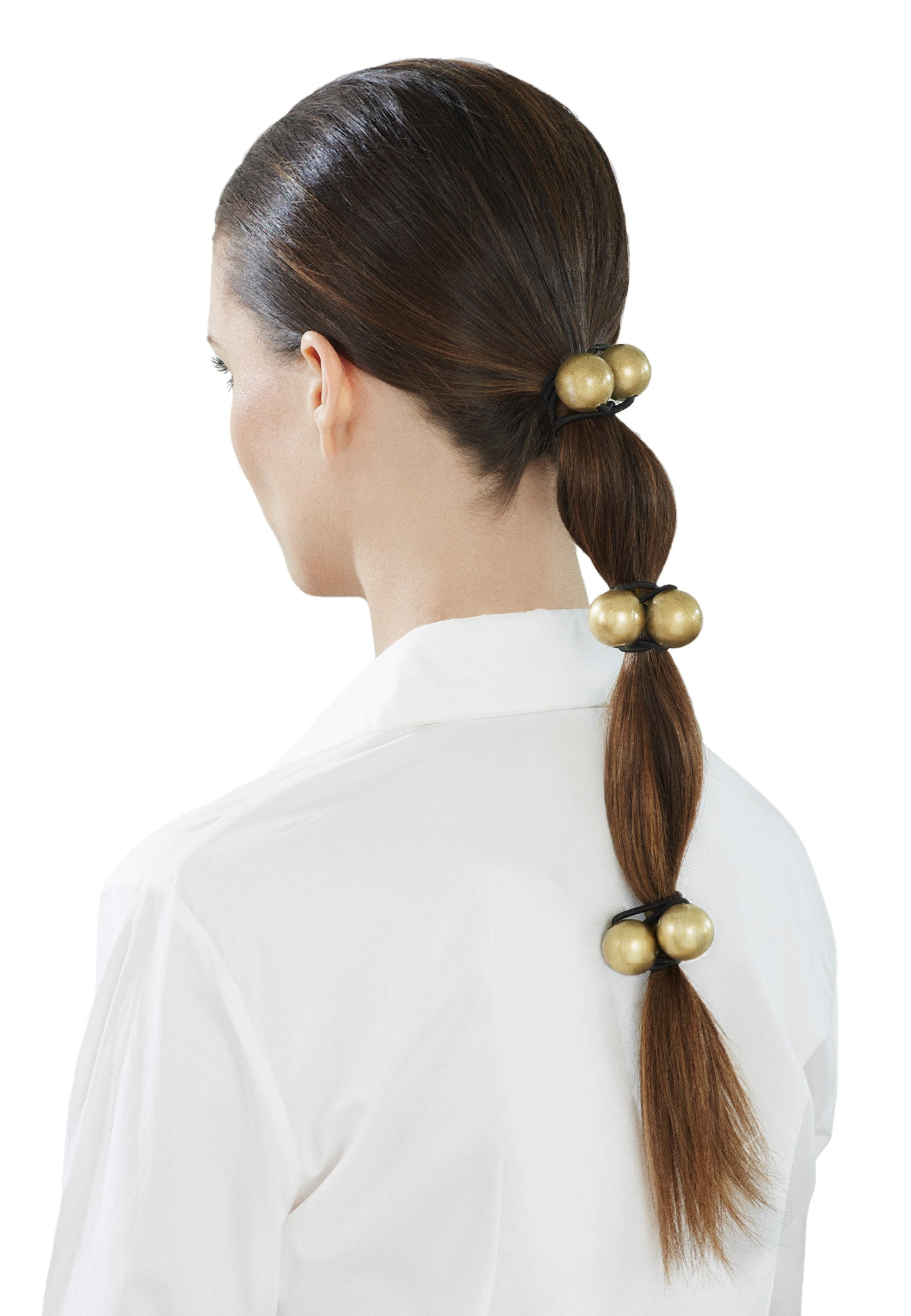 Jorge Luis New York 2 Bauble Gold Hairband Elastic Hair Accessory