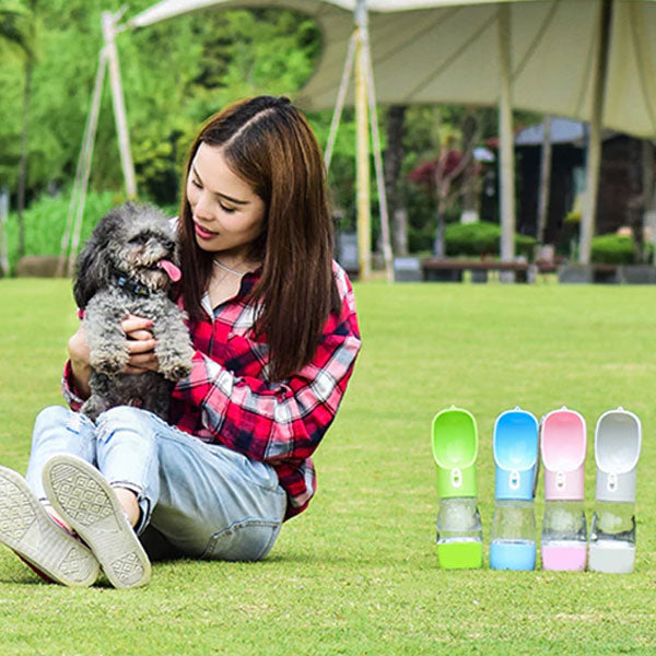 2 in 1 Portable Pet Water Bottle and Feeder