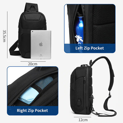 USB Anti-Theft Sling Bag