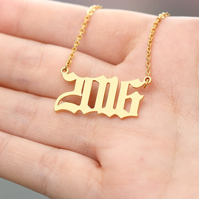Stainless Steel Year Number Custom Necklaces - GRemote