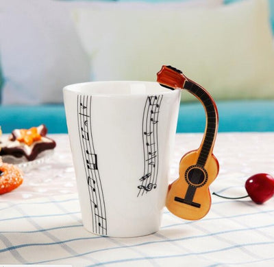 Violin Style Guitar Ceramic Mug - GRemote