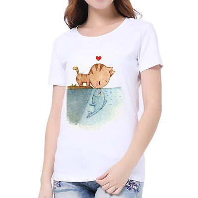 Charmed 3D Cat Print  T-Shirt - GRemote