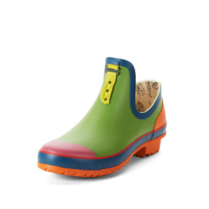 multi coloured ankle welly