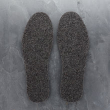 Load image into Gallery viewer, wool felt insoles in grey