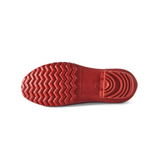 Load image into Gallery viewer, maroon and red gardening shoe bottom view