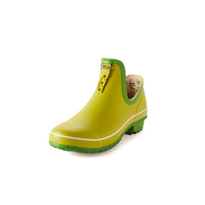bright green gardening shoe