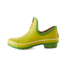 bright green gardening shoe side view