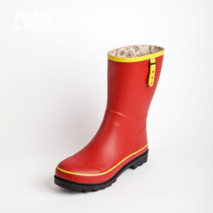 Tomato Red Bossy Boot 3/4