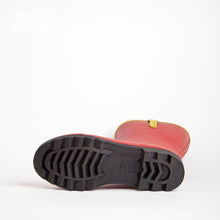 Load image into Gallery viewer, short welly in red sole bottom view