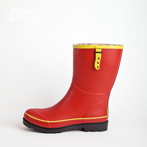 Tomato Red Bossy Boot in profile