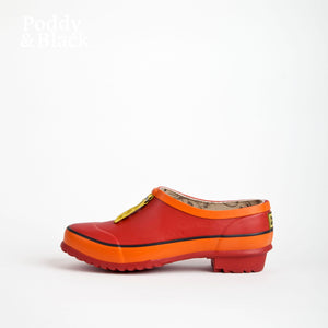 clog in red side view