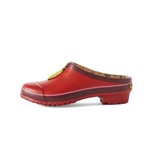 garden clog in red side view