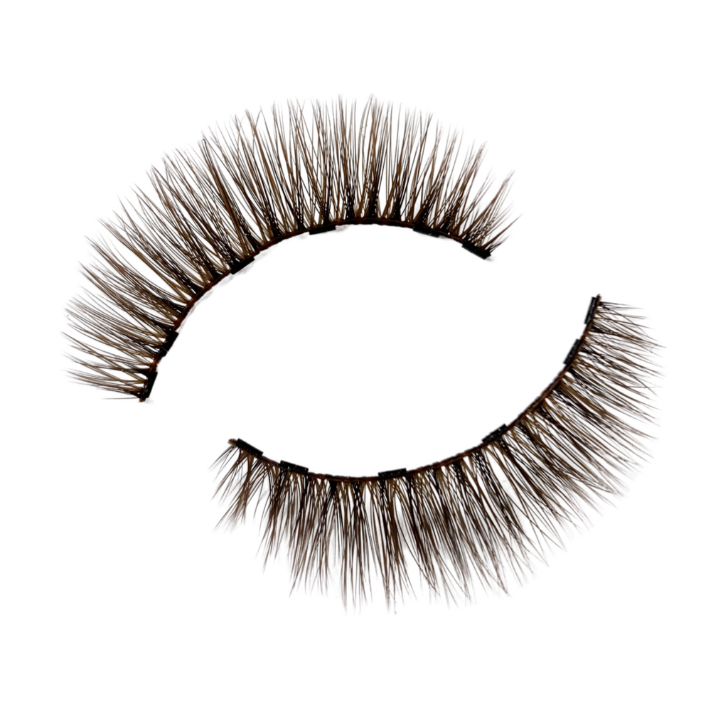 BROWN MAGNETIC EYELASHES KIT