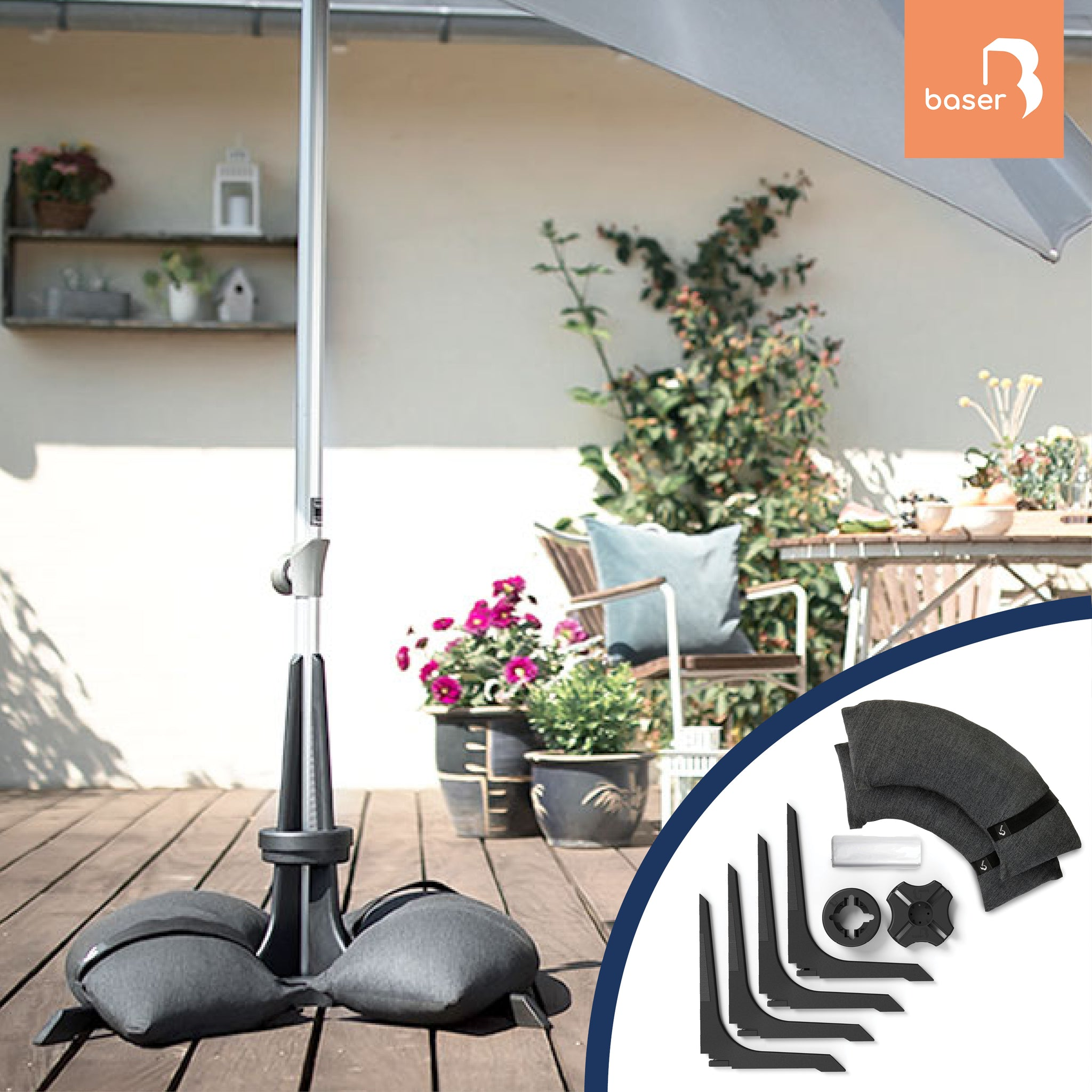 Baser parasol Base with sandbags Baser patio Umbrella base with sandbags