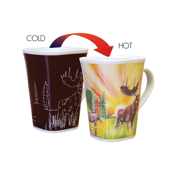 Ollee Bee Color Changing Story Mugs - Moose 1732 *Min. 3
