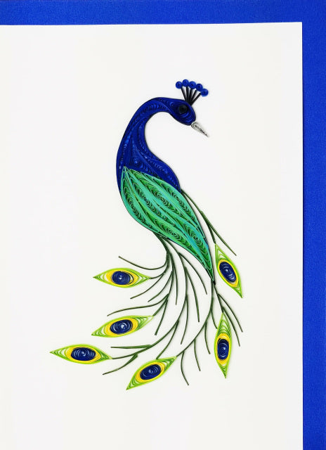 Iconic Quilling Cards  5x7 - 237 Peacock