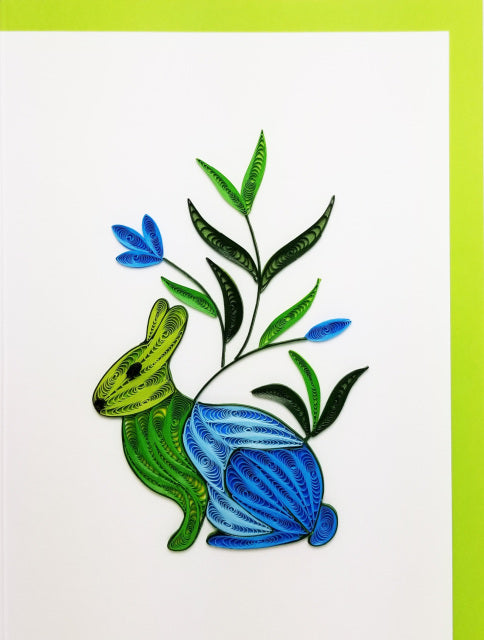 Iconic Quilling Cards 5 x 7 - 270 Rabbits