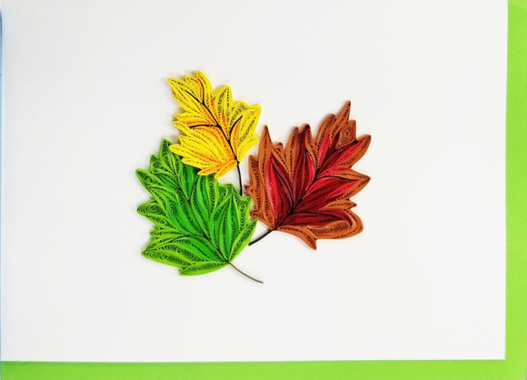 Iconic Quilling Cards 5 x 7 - 323 Leaves