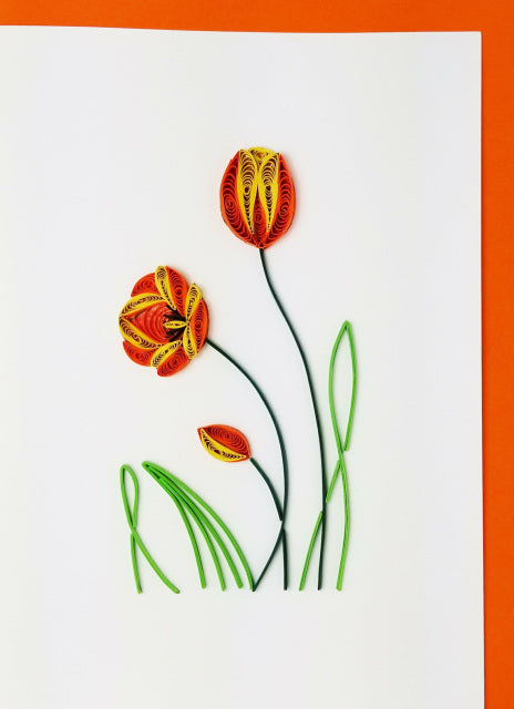 Iconic Quilling Cards 5 x 7 - 330 Tulip's