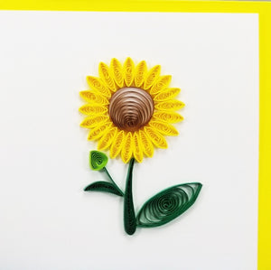 Iconic Quilling Cards 4 x 4 - 40 Sunflower