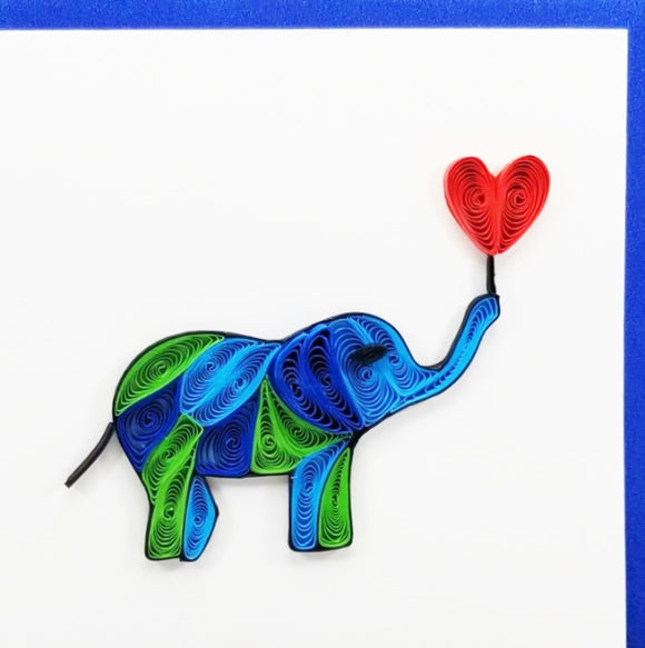 Iconic Quilling Cards  4 x 4 - 47 Elephant