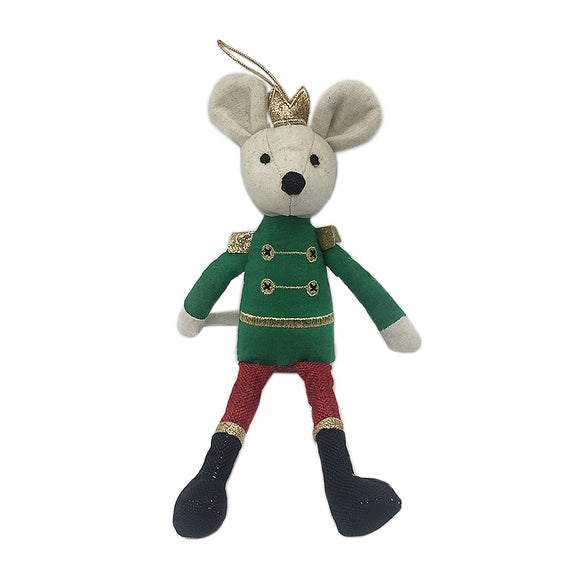 *Mon Ami King Mouse Doll Ornament 55338 - Min 4pc