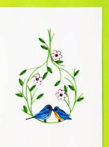 Iconic Quilling Cards  5x7 - 605 Love Birds