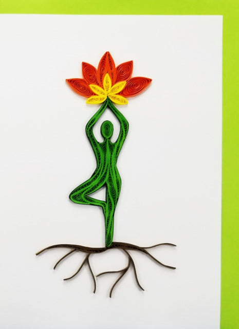 Iconic Quilling Cards  5x7 - 701F Flower Tree Pose
