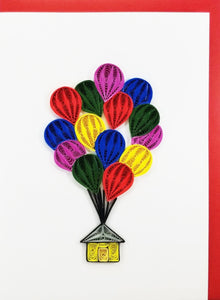 Iconic Quilling Cards  5x7 - 709 House with Balloons