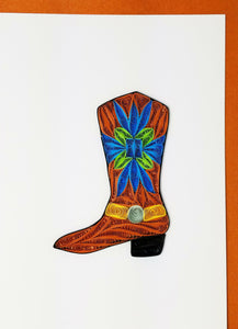Iconic Quilling Cards  5x7 - 720 Cowboy Boot
