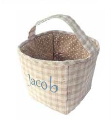 Mon Ami Fabric Basket Tan - 38410 *Min 4pc
