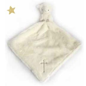 Mon Ami Lamb Blankie Lovie with Gold Embroidered Cross - 89826 *Min 3pc