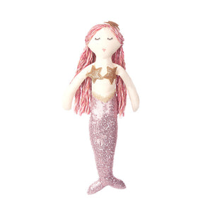 Mon Ami Pink Sequin Mermaid Doll - 55202 Min. 3pcs