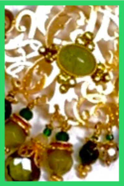 Charlie Earrings Gold/Green