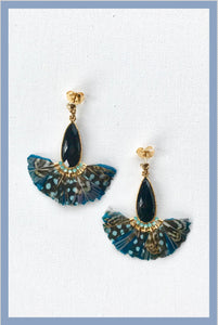 SERTI PAON FEATHER EARRINGS
