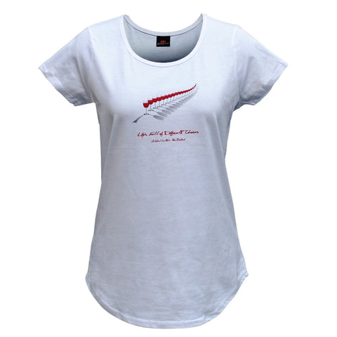 Red Wine Fern Womens T/Shirt