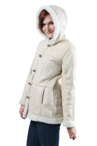 Ainsley Womens Sheepskin Jacket Side