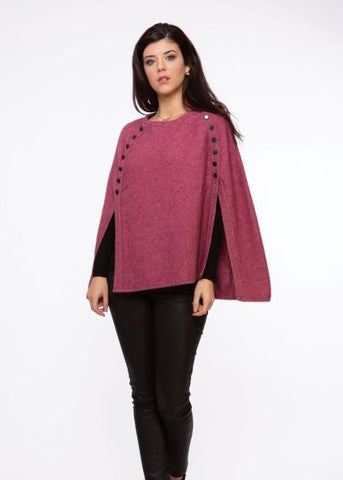 Button Trim Poncho