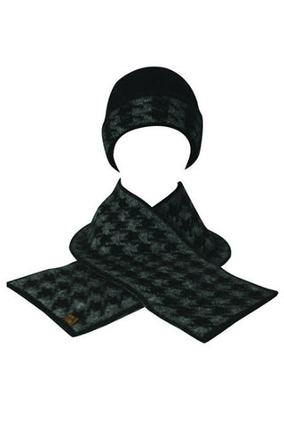 Possumsilk Hounds Tooth Beanie