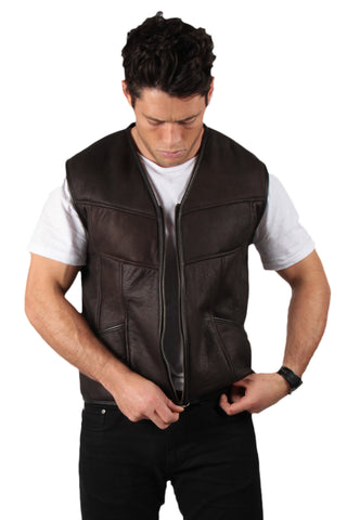 Jim - Mens Sheepskin Vest