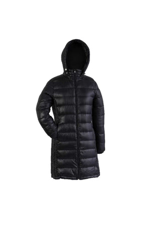 Long Hooded Packable Down