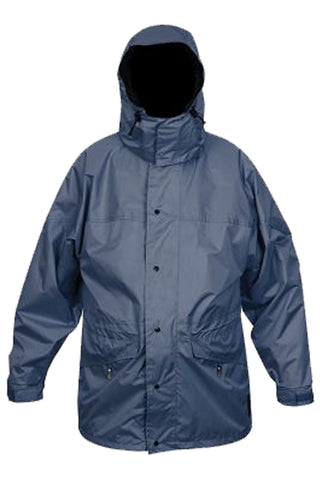 Mens Full Rain Jacket in Shark Blue