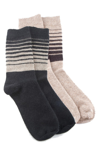 Possum Merino Striped Socks
